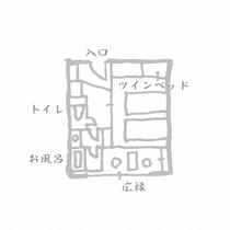 畳ツインベッド(セミダブル2台)【禁煙ルーム】