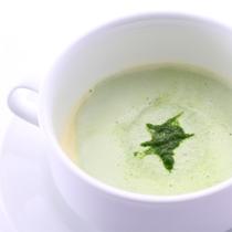 *【ご夕食 スープ一例】素材の美味しさを味わっていただくやさしいスープをお召し上がりください。