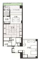 バリアフリー客室 客室平面図