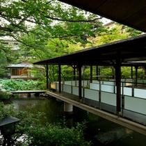 庭園 回廊と茶室