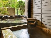 鳳凰特別室・301ほととぎす/源泉内風呂〈框ひのき石タイル〉