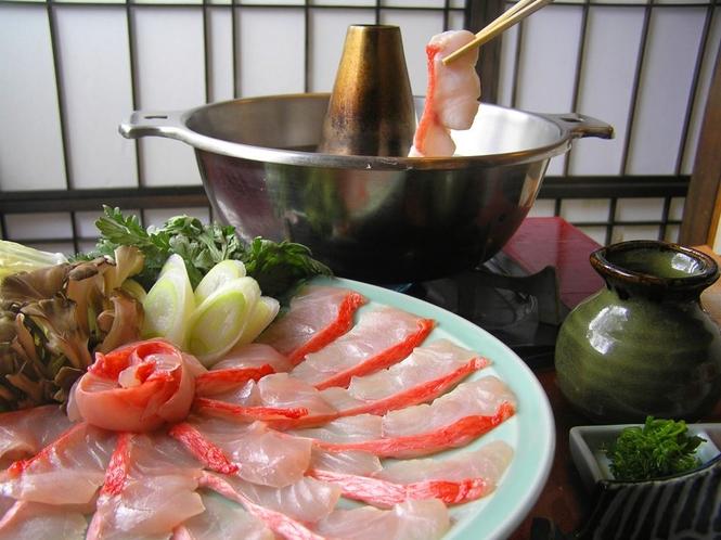 正真正銘稲取産の金目鯛のしゃぶしゃぶは絶品