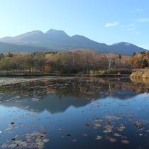 *妙高の山々が紅葉がきれいに映える「いもり池」