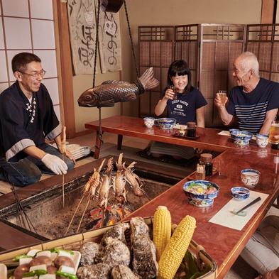 焼き魚は鯛、メバルかアジの田楽 仕入れ次第〜囲炉裏端に座って全品焼き立てあっつアツ