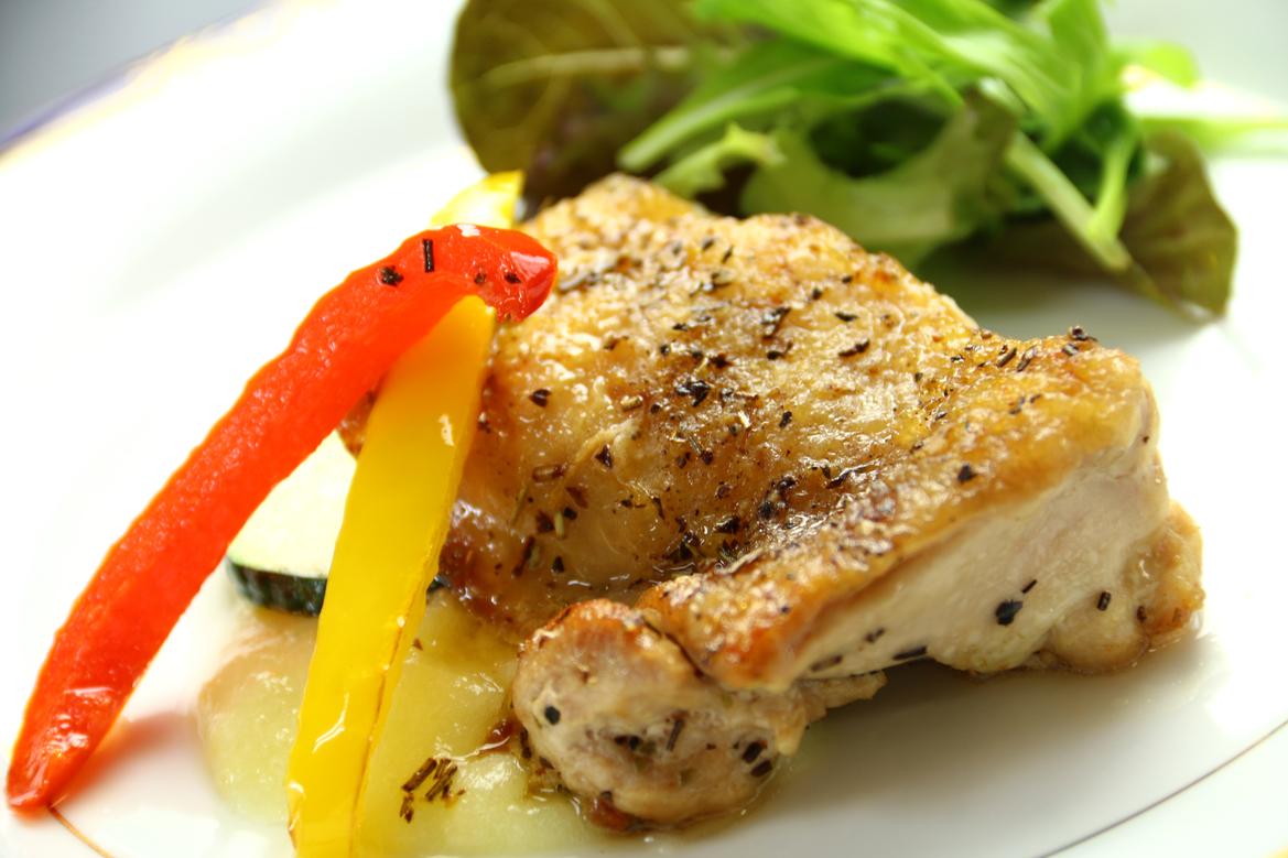 ・夕食 一例【若鳥のグリル】
