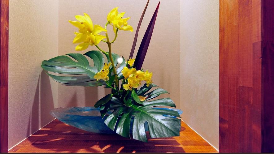 ・四季折々の花々がお客様をお出迎え致します