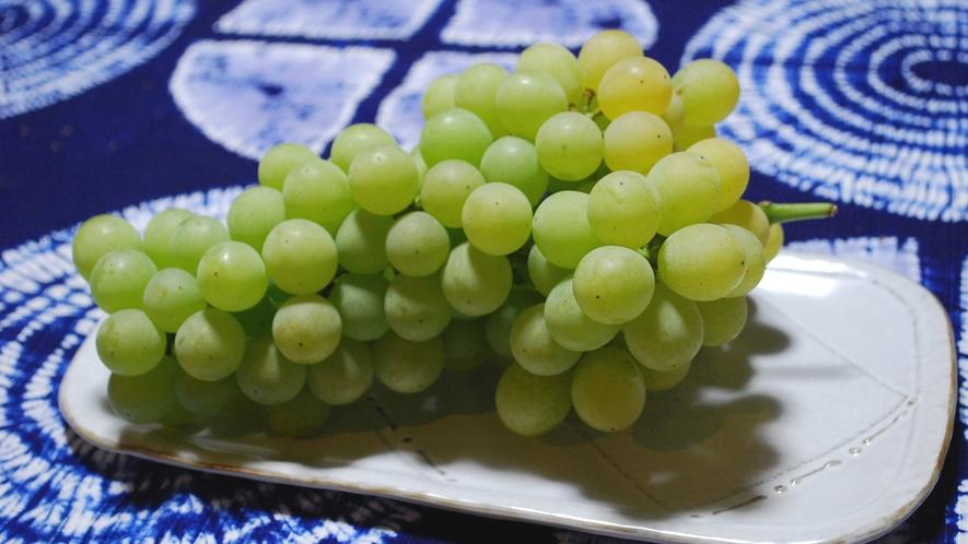 ・山辺のぶどう 松本市の山辺地区や塩尻市の桔梗が原のぶどうは全国的に有名です。
