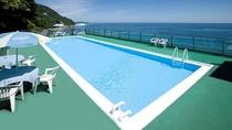 *屋外プール(夏期のみ)/温泉を加水した相模灘を一望できる絶景プール