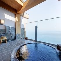 *屋上貸切露天風呂「逢初の湯」