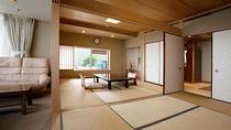 *露天風呂付特別室(和室8畳+6畳+温泉露天風呂)