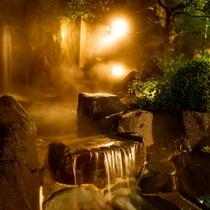 縁覚の湯「露天風呂」夜