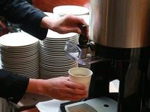朝食ビュッフェ テイクアウトコーヒー