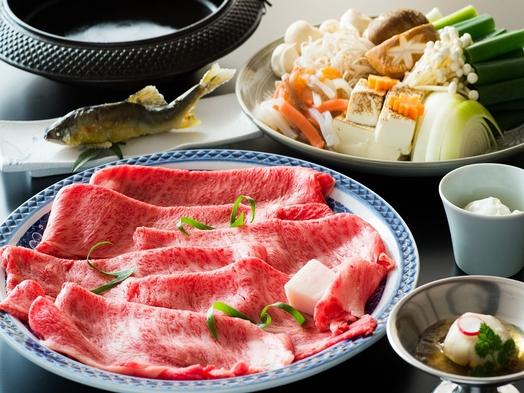 【ご夕食は開放的な川床席で♪】特選和牛すき焼き