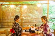【川床】食事風景