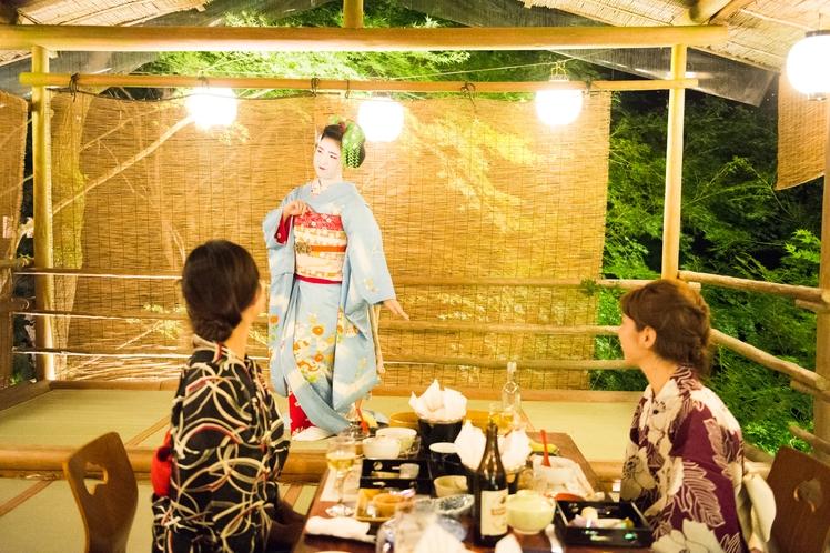 【夏の川床】舞妓さんによる京舞