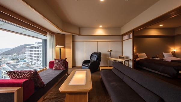 【東の館・最上階貴賓室(113平米)】温泉展望風呂付