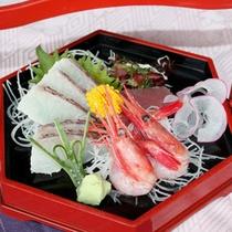 桜鯛と南蛮海老のお造り