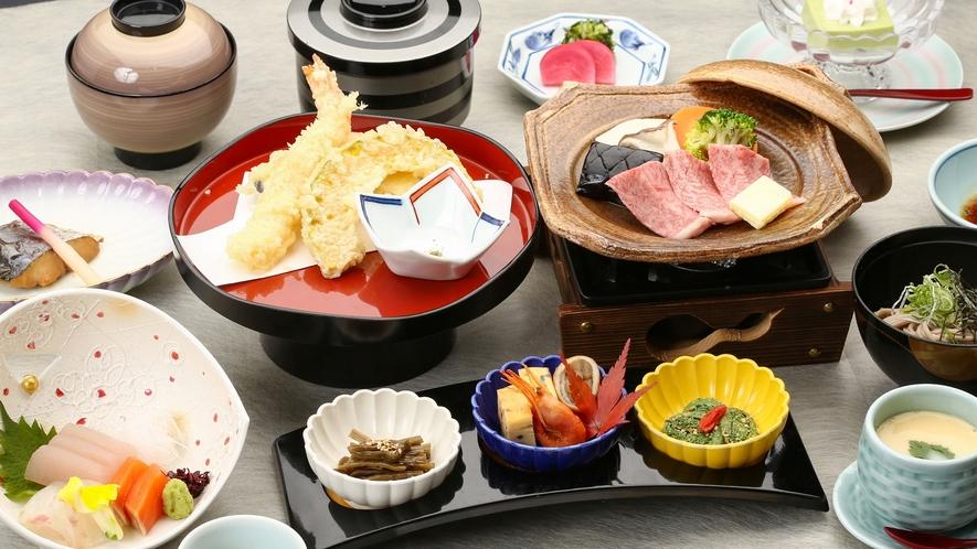 *【お料理】会席料理のイメージになります。