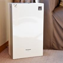 ⇒空気 快適にご利用頂けるよう、全室に空気清浄機をご用意。