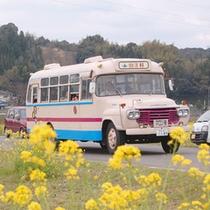 山江村を走るボンネットバス「マロン号」
