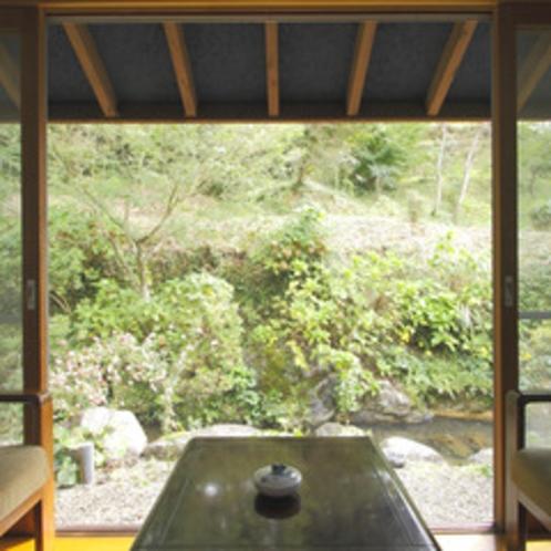 【和室一例】窓の外に広がる緑を眺めながらゆったりお過ごしください