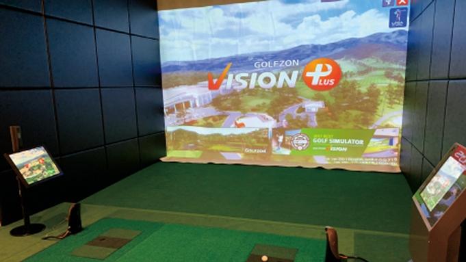 【アクティビティ】《ゴルフ×バイキング》ゲーム感覚でシミュレーション体験♪1ドリンク特典付