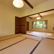 *【5~9名用コテージ】畳の香りがほのかに薫る和室のお部屋。足を伸ばしてのんびりお寛ぎ下さい。