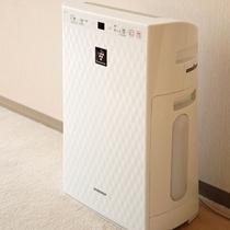 デラックスツインルームの加湿空気清浄機の一例