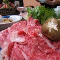 ・霜降り上州牛すき焼き(プランによる)