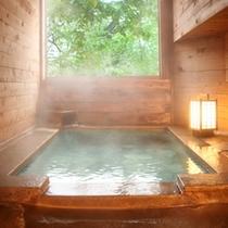 旅館美津木の貸切風呂も利用可(家族風呂【内湯】、混雑日時間制限有)