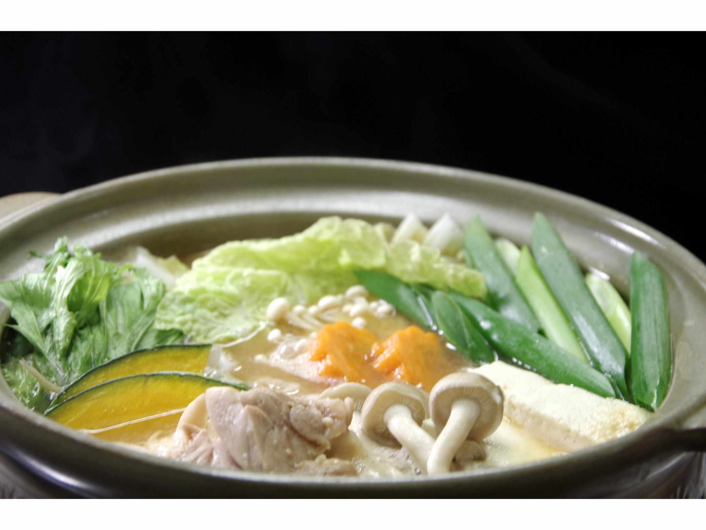 ★ 地鶏と取り立て野菜のみそ鍋