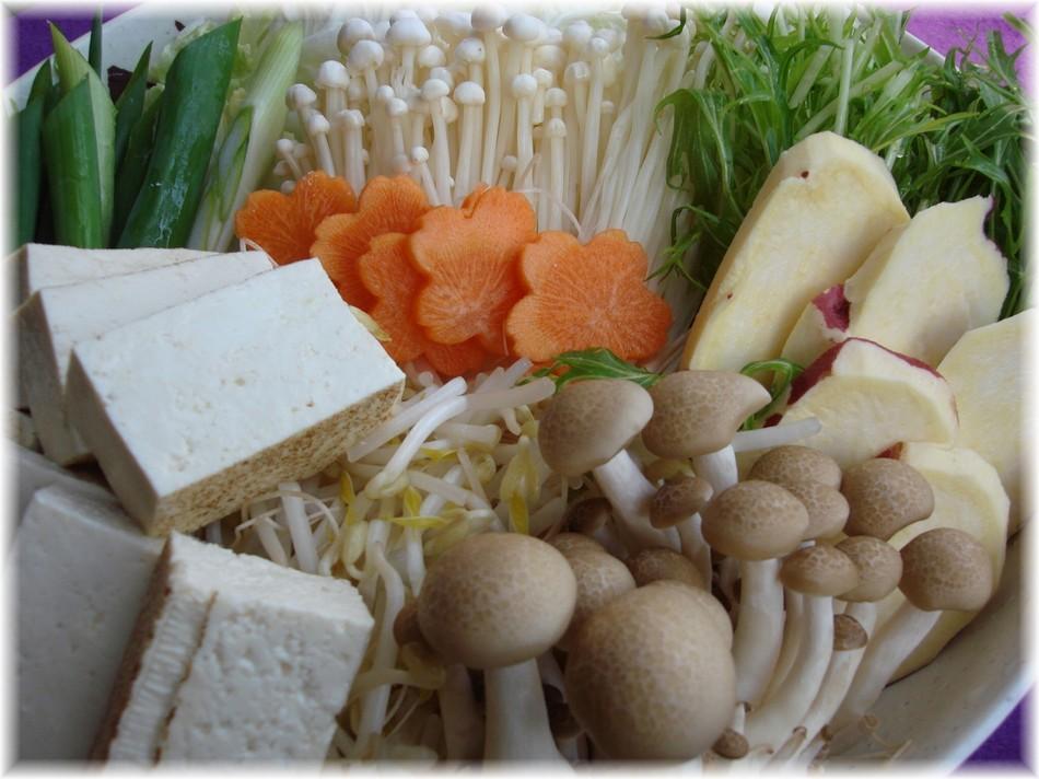 ■自家栽培野菜盛り付け