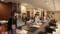 メトロポリタンホテルズ 安心・安全の取り組み フロント・アクリルパネル・マスク
