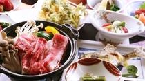 ■【ご夕食一例】温泉のあとは地元の食材を使った料理で、ココロもカラダも大満足!