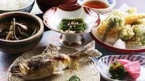 ■【ご夕食一例・湯治食】肘折の天然食材がたくさん!身体に優しい和食膳をお楽しみください。