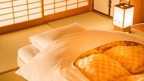 【こだわり】和室では、厚手のマットレスが快眠を誘います。