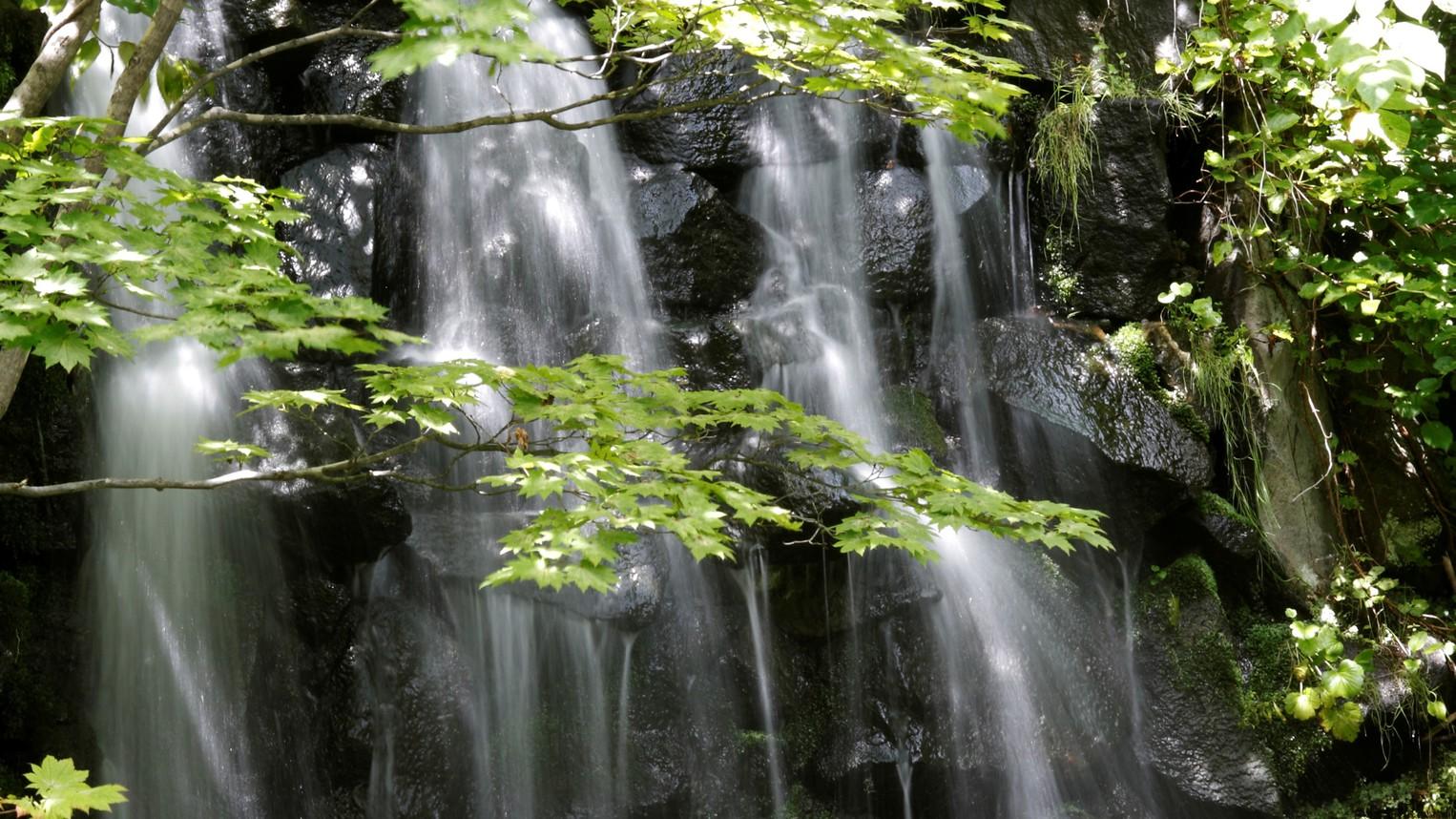 ◆庭園露天風呂 登別温泉唯一の滝見露天(一例)