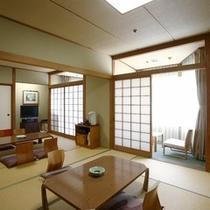 【15畳~16畳和室】ご家族やグループでのご宿泊にご利用いただけます。