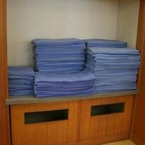 大浴場にはタオル・バスタオルをご用意しております