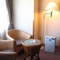全客室に空気清浄機プラズマクラスターを完備しております。