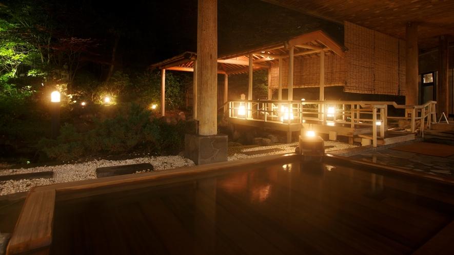 ◆庭園露天風呂 檜風呂(一例)