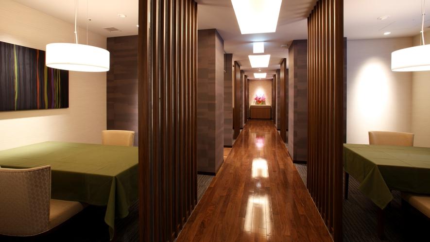 ◆食事処「華扇」/3階洋風ダイニング お客様に特別な空間と、お食事をご提供させて頂きます。