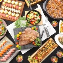 【夕食バイキング】種類豊富な四季折々の北海道の味覚をお楽しみ下さい。