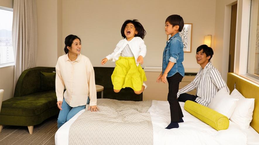 「たのしかった~!」お子様の笑顔を見て、ほっと安らぐ家族だけの大切な時間。