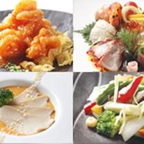 【中国料理・桃李】玄武コース一例。お好きなメニューを選べるフルコース。