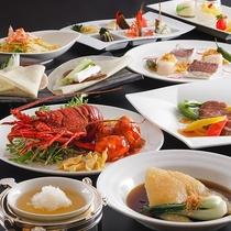 【中国料理‐桃李】<極コース>伊勢海老・ツバメの巣など、厳選された食材をたっぷりと味わえます。