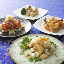 【中国料理・桃李】ディナー例。プリプリのエビ料理に舌鼓。