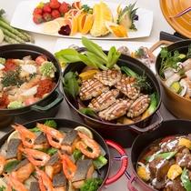 【セリーナ】兵庫県産の食材を使用した、40種類以上のバイキング