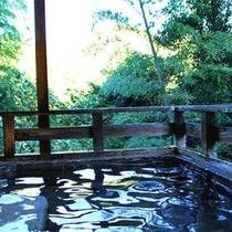 *【露天風呂】(殿方)四季折々の風景が間近に!自然と触れ合うことができる露天風呂です。