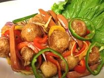 揚げ里芋の野菜あんかけ やさしい味です